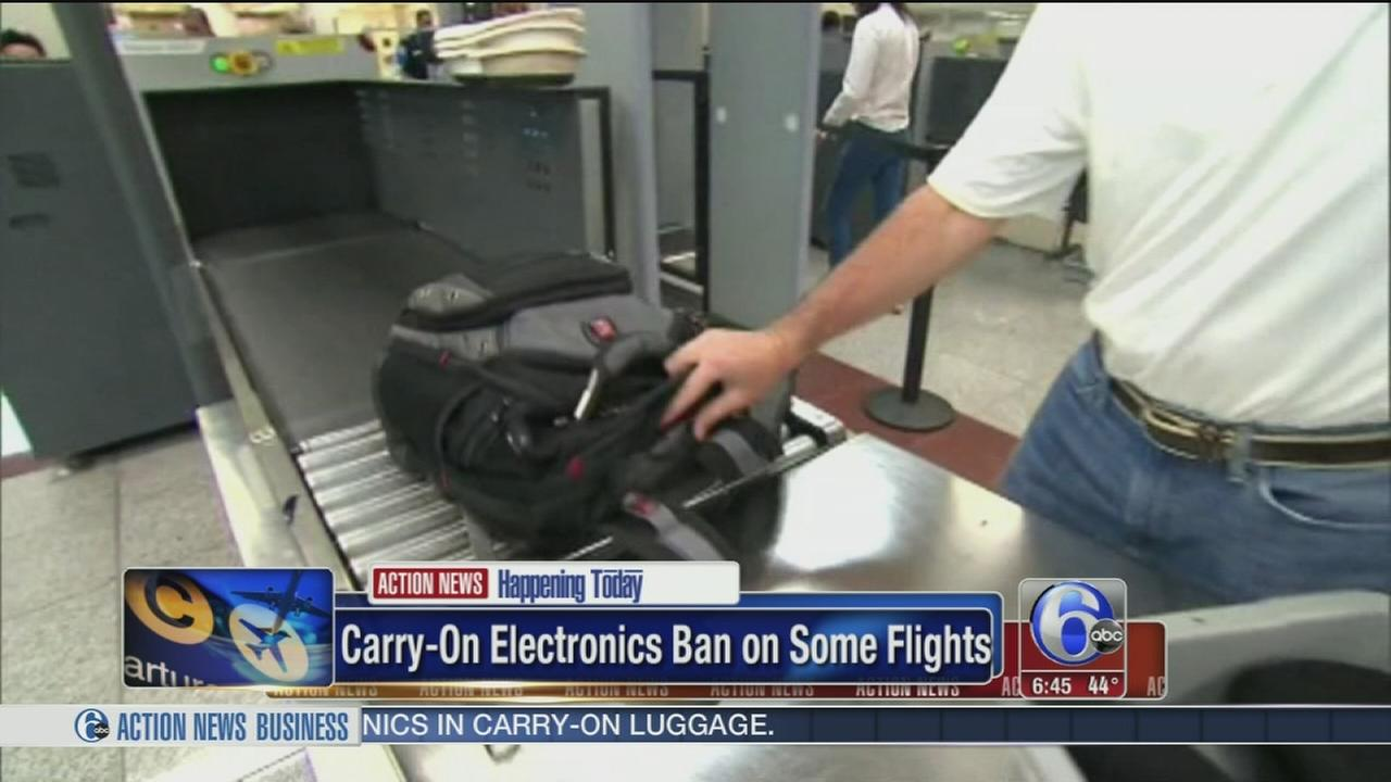No electronics on some US-bound jets