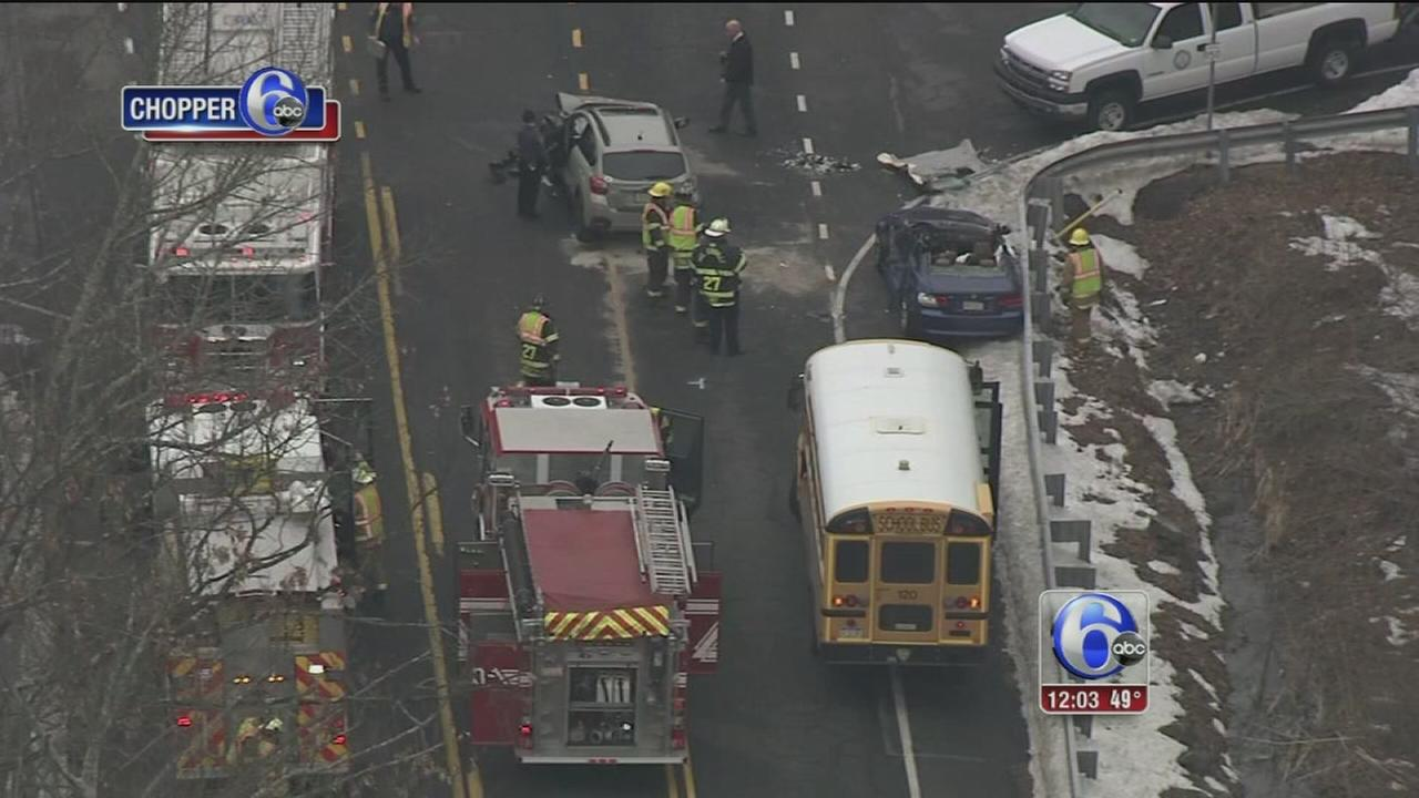 Crash involving school bus in Bucks Co.