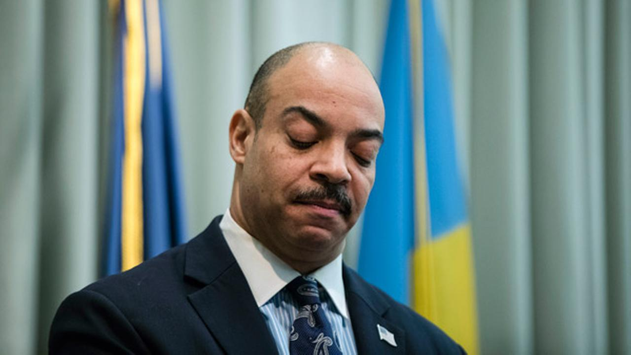 FILE - In this Feb. 10, 2017, file photo, Philadelphia District Attorney Seth Williams speaks during a news conference in Philadelphia.