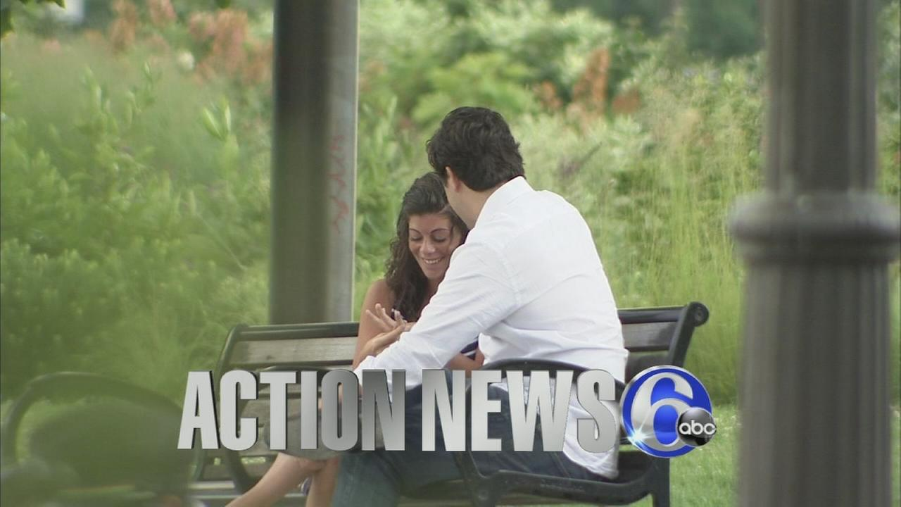VIDEO: Marriage proposal on Action News credits