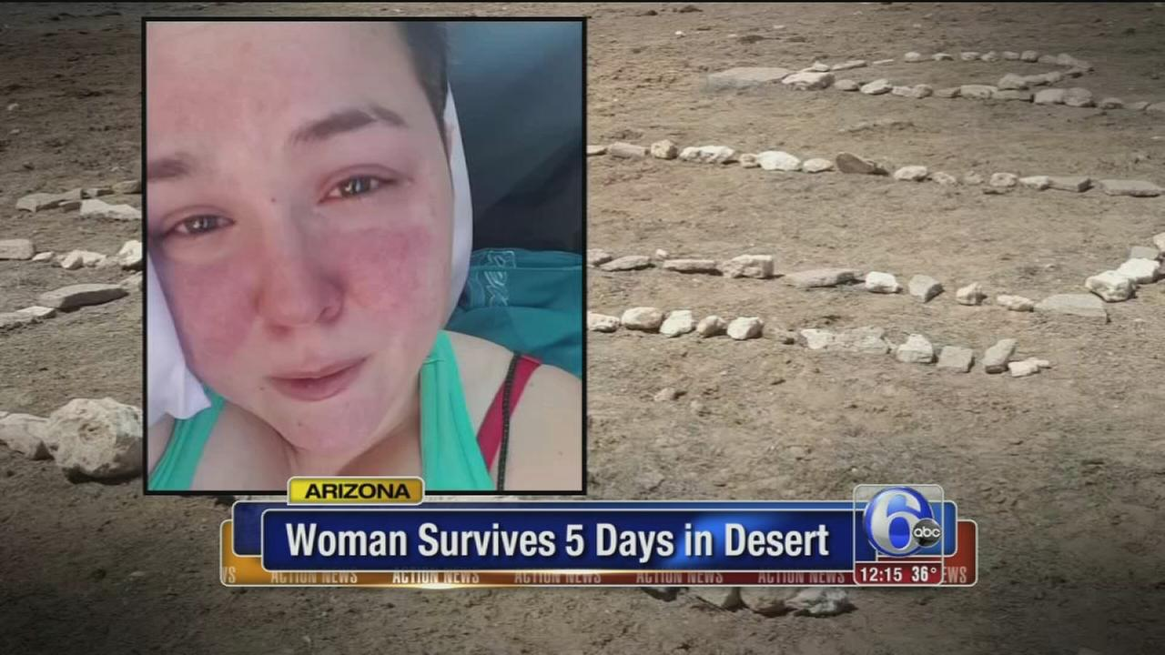 College student survives being stranded in desert