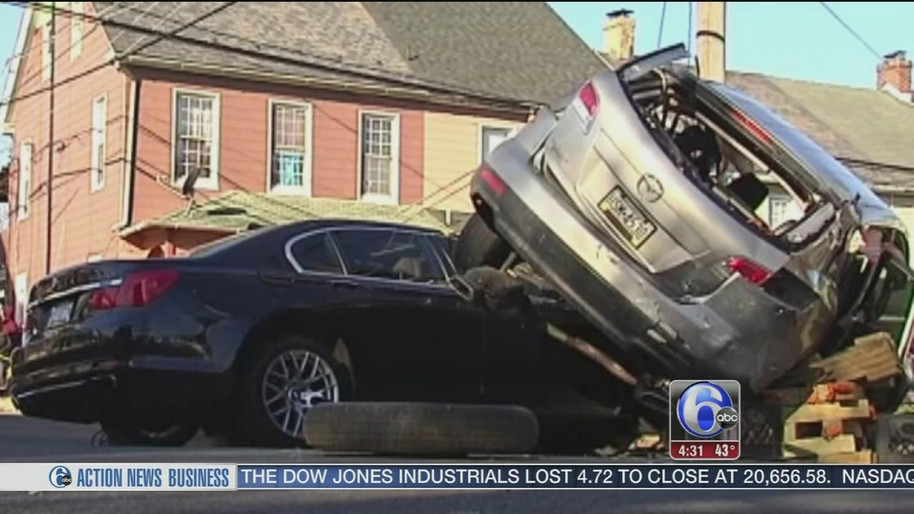 Police chase ends in crash in Allentown