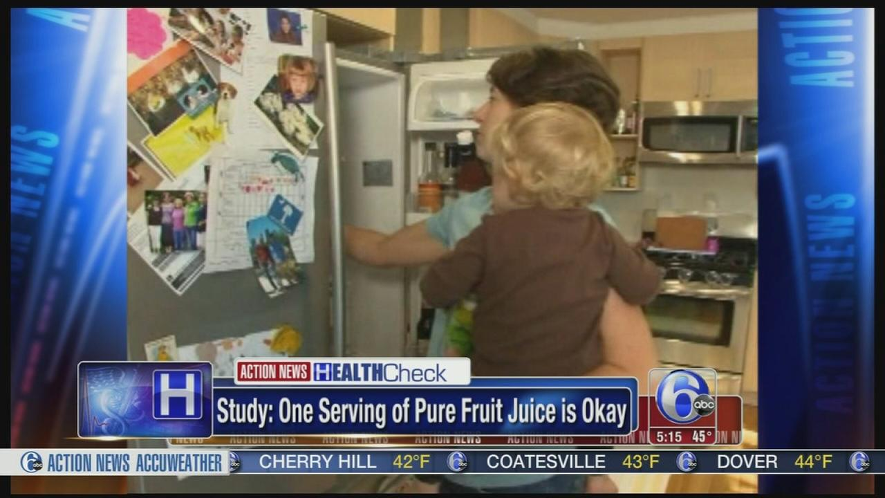 Study: 1 serving of pure fruit juice of OK for kids