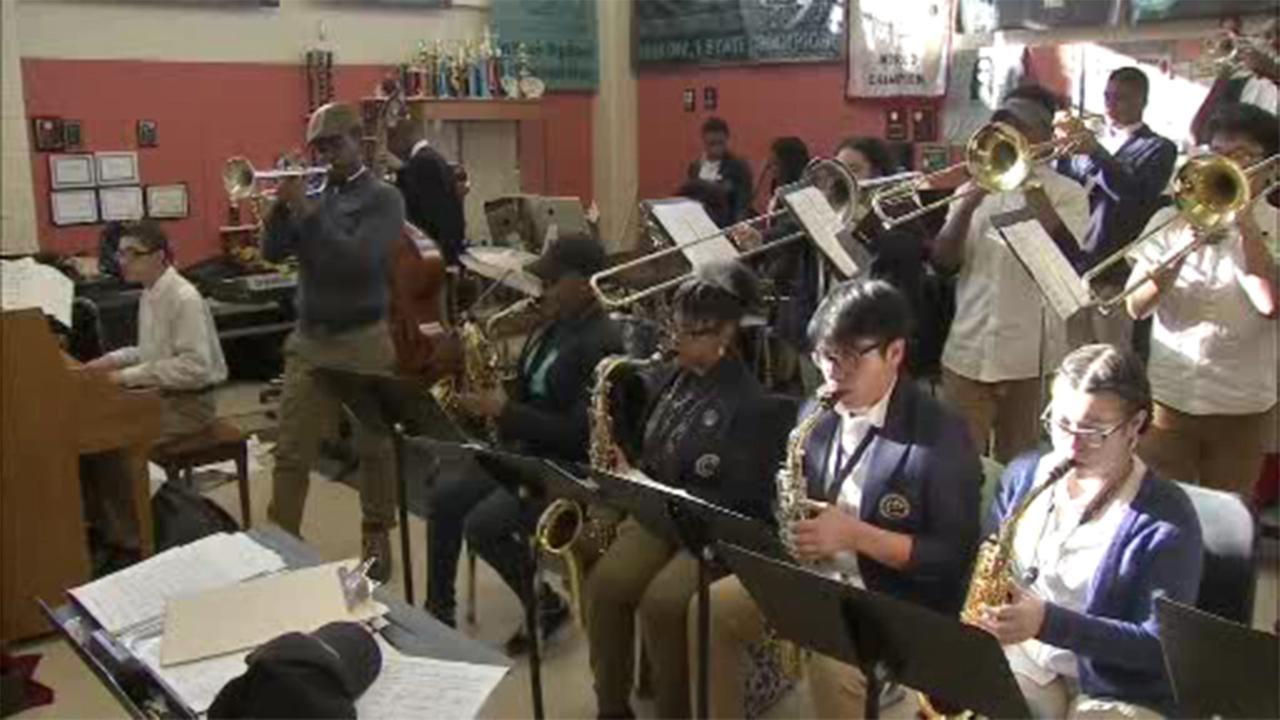 The Camden Creative Arts High School jazz band has been selected as a finalist in the International Big Band Competition.