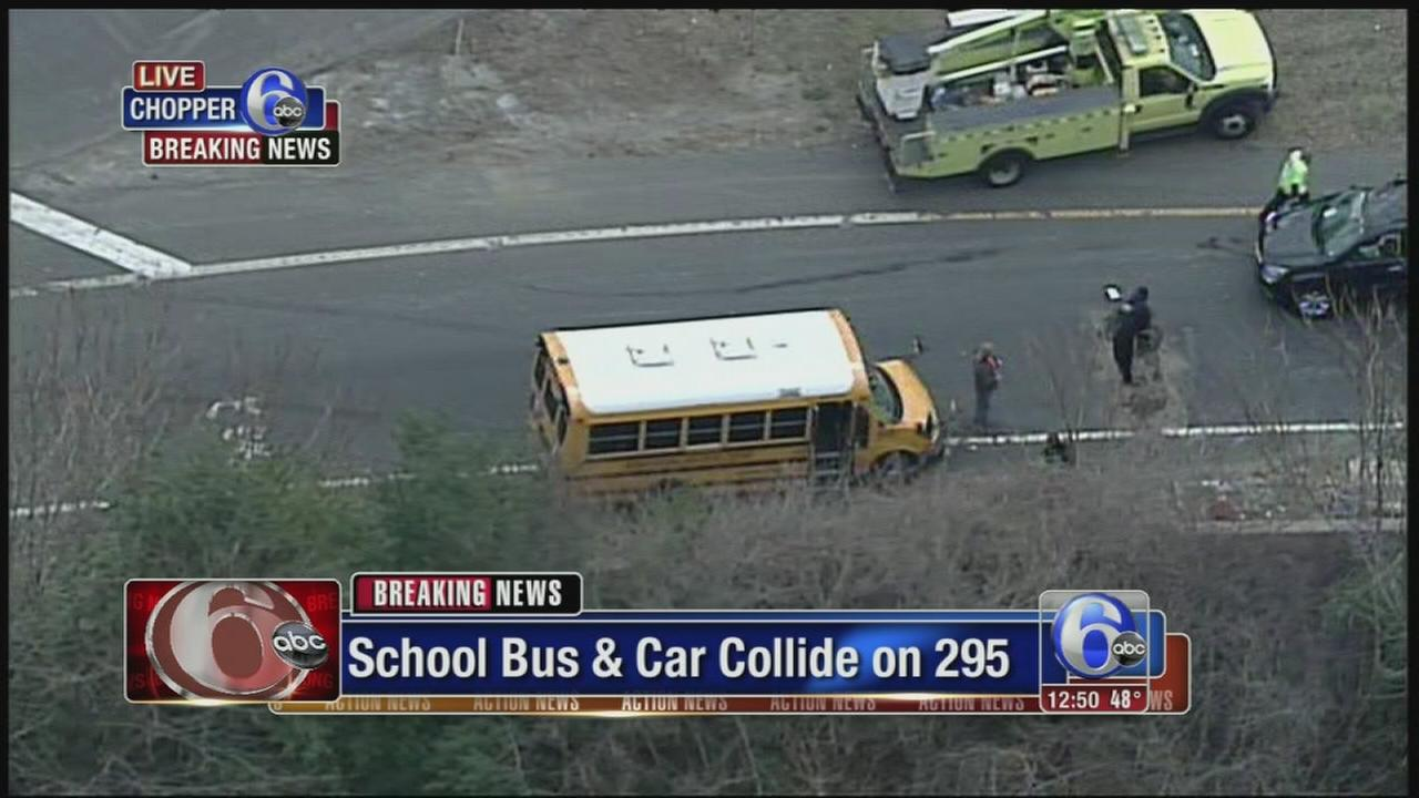 School bus and SUV collide in Cherry Hill