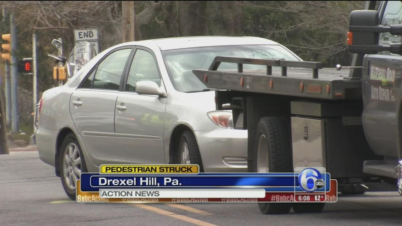 Pedestrian struck by vehicle in Drexel Hill