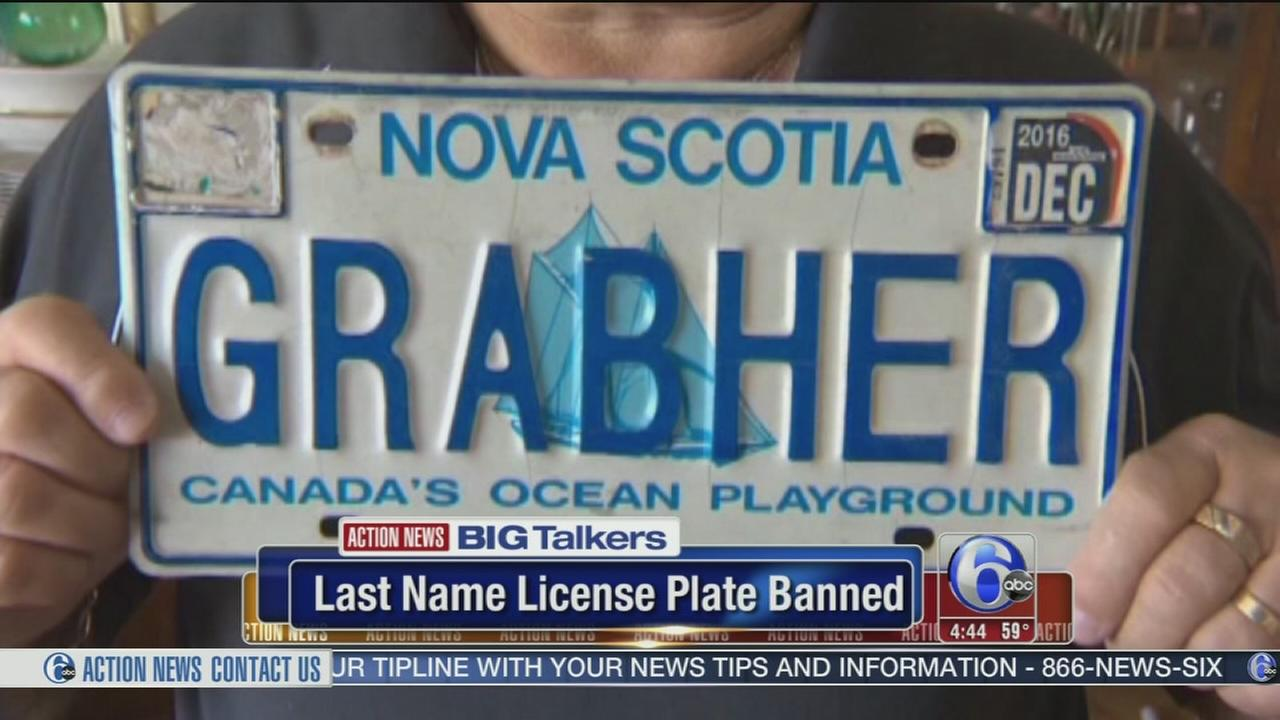 Canada mans last name ruled too misogynistic for license plate
