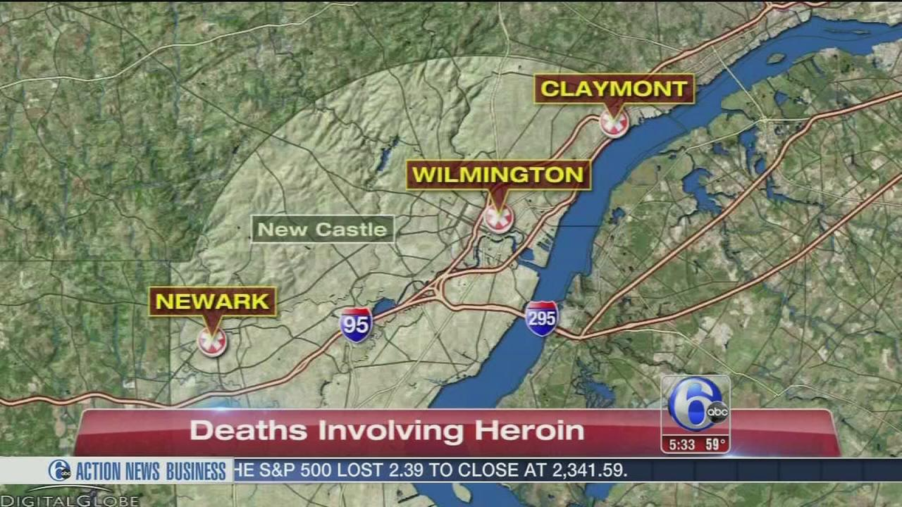 Heroin believed to be involved in 4 deaths in Del.