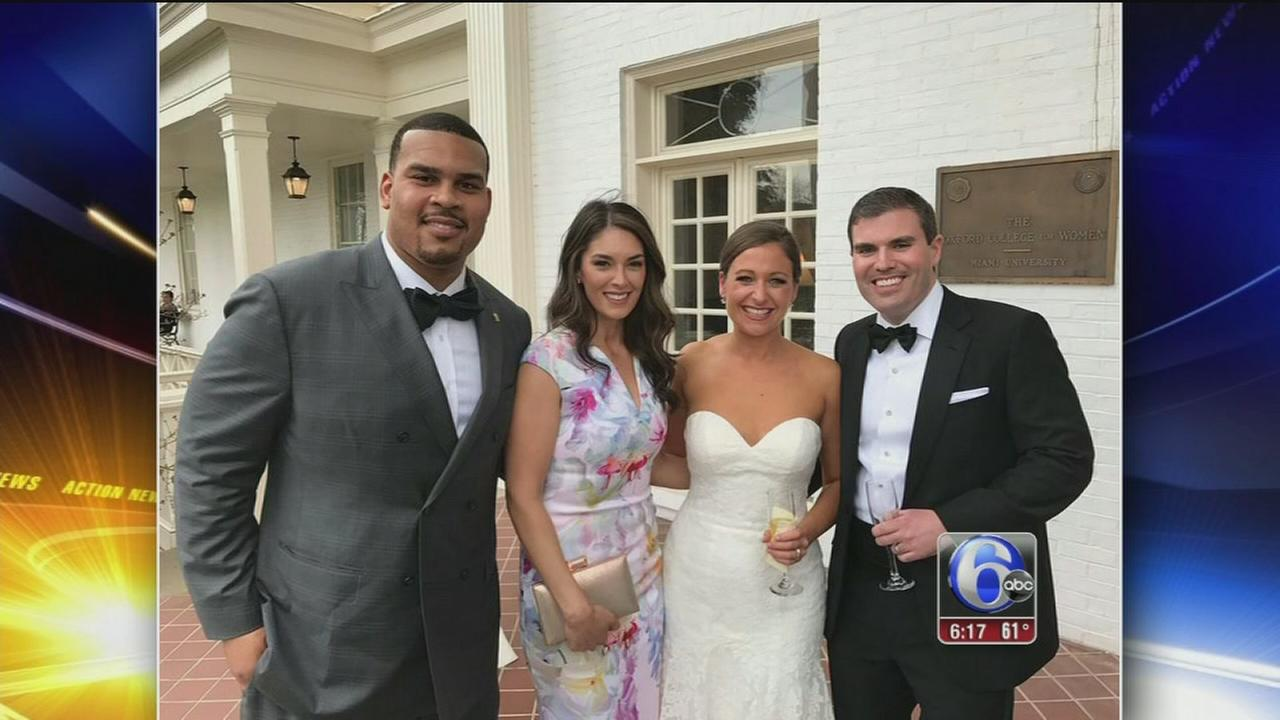 Brandon Brooks attends Eagles fans wedding