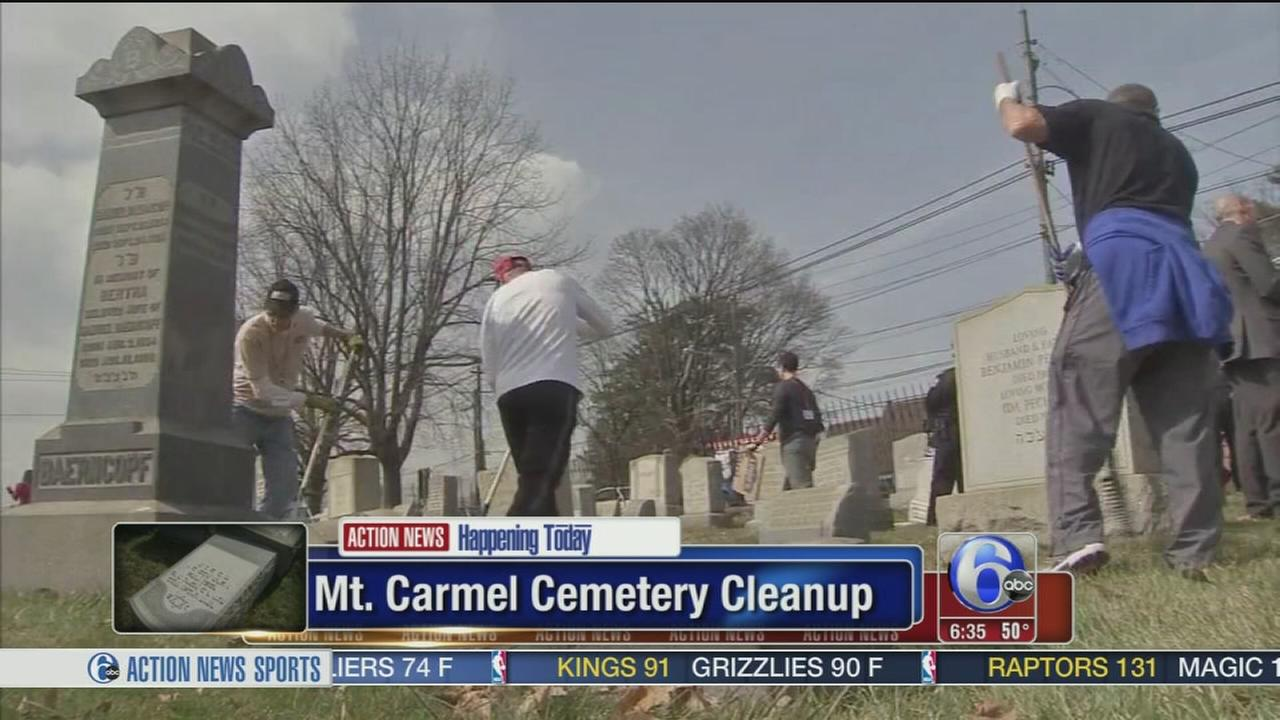 Cleanup begins Tuesday at vandalized Jewish Cemetery