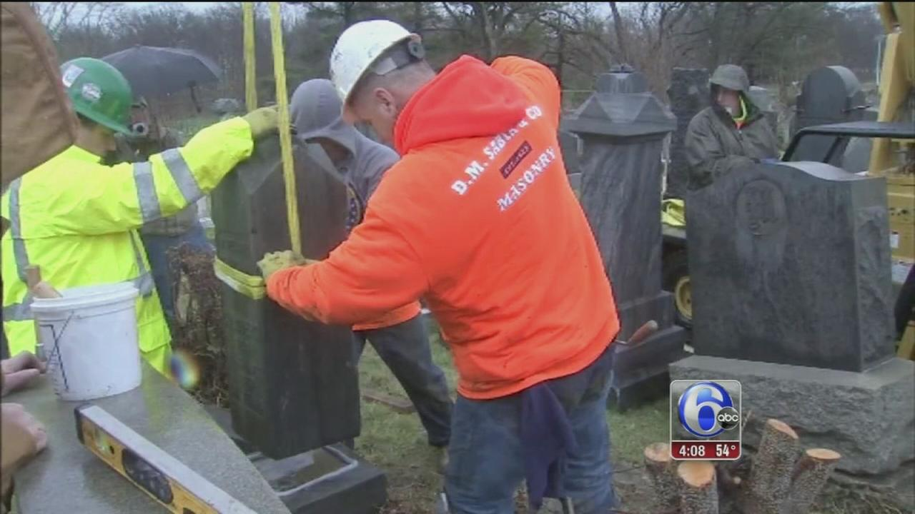 Cleanup underway at vandalized Jewish Cemetery in Wissinoming