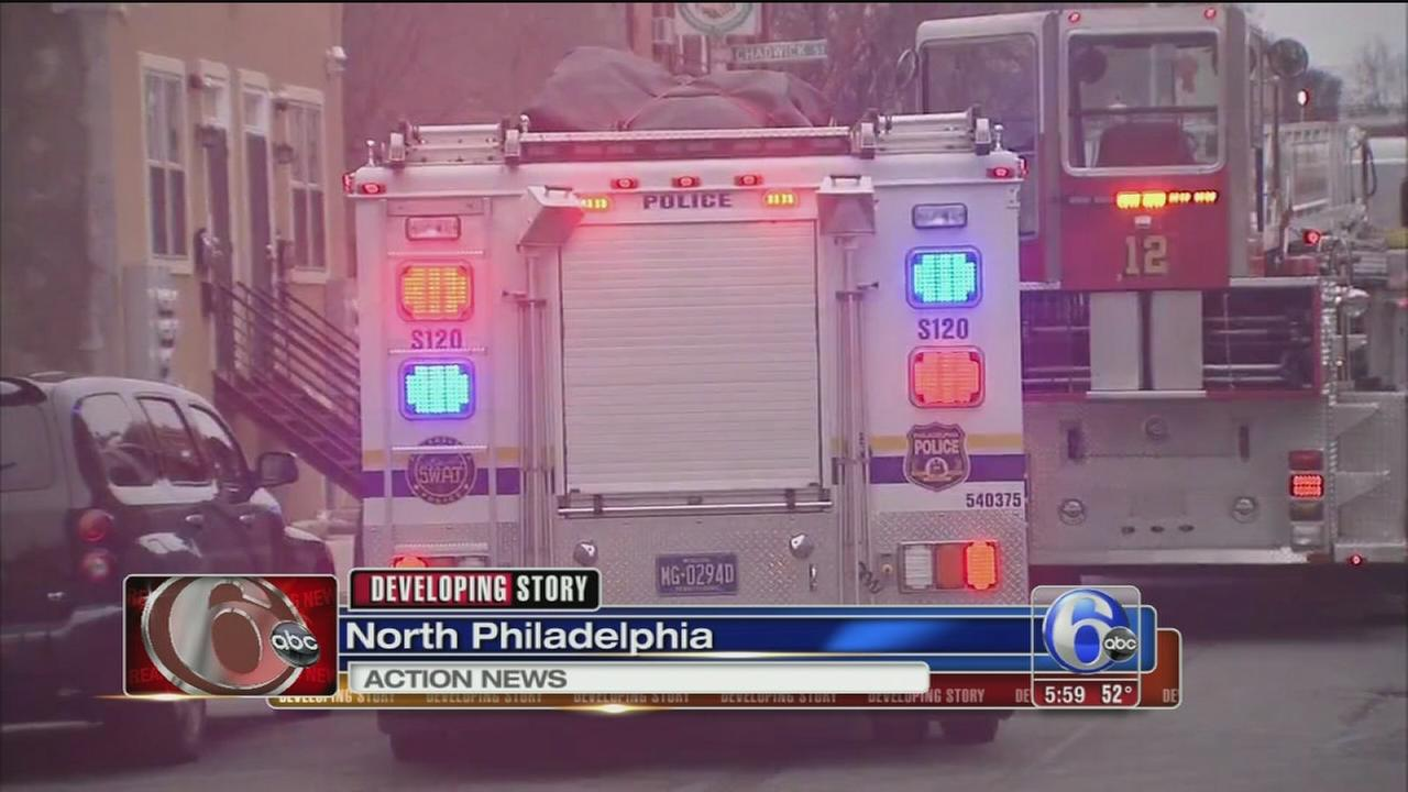 Suspected gunman barricade in North Philadelphia home