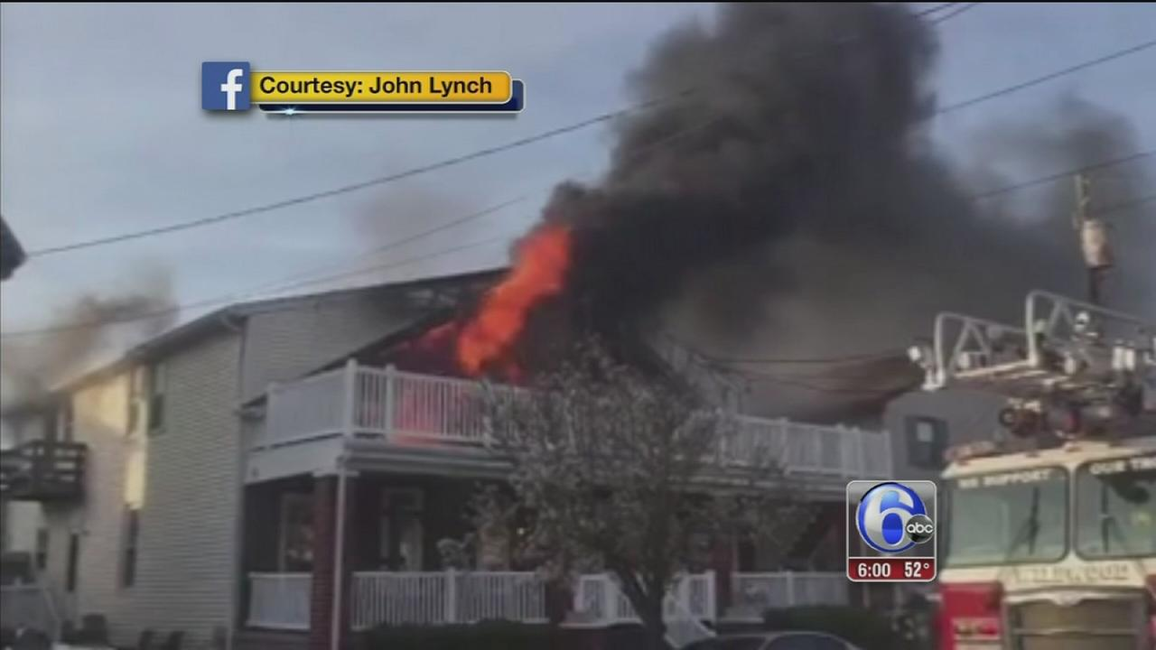 Rescuers save 7 people from Wildwood Crest fire