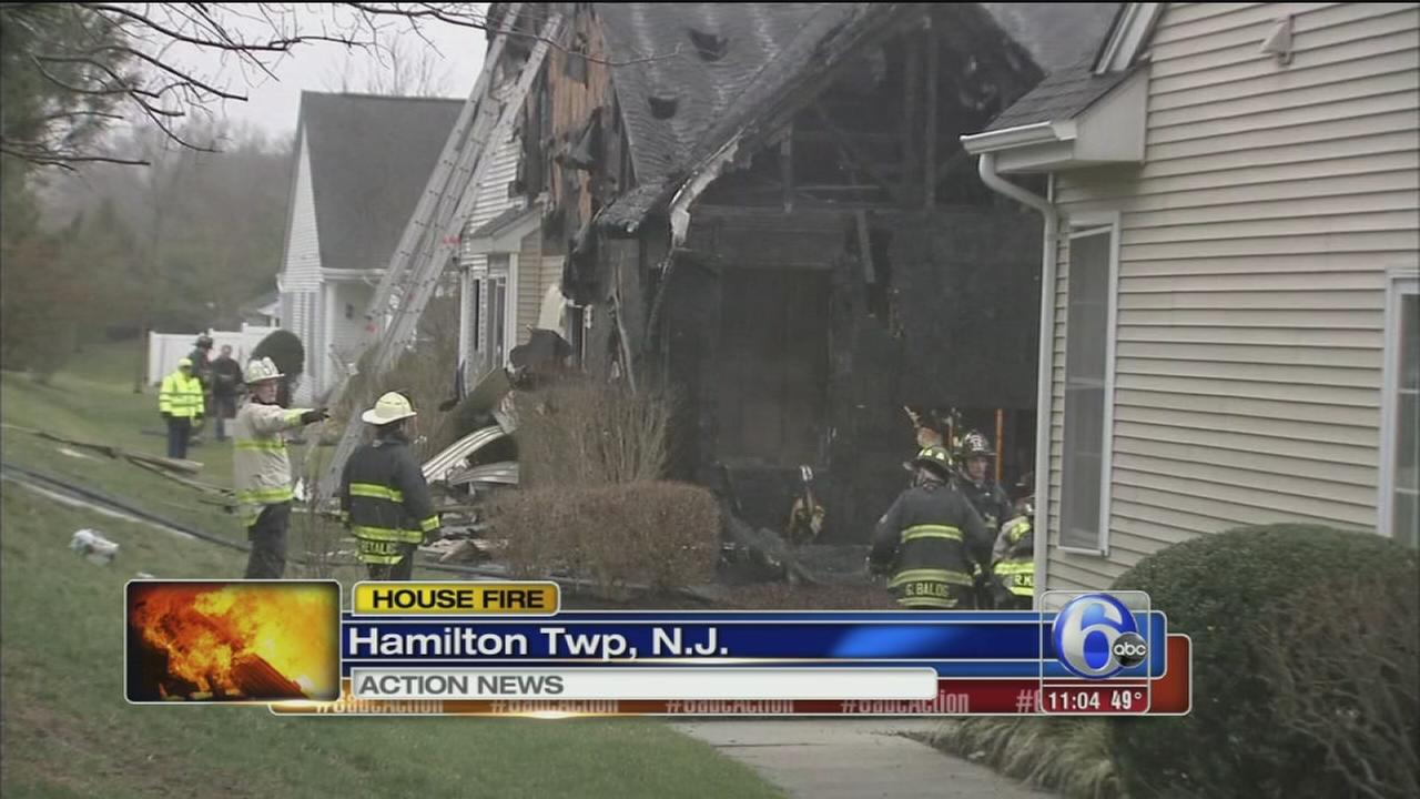 Fire burns through Hamilton Twp. house