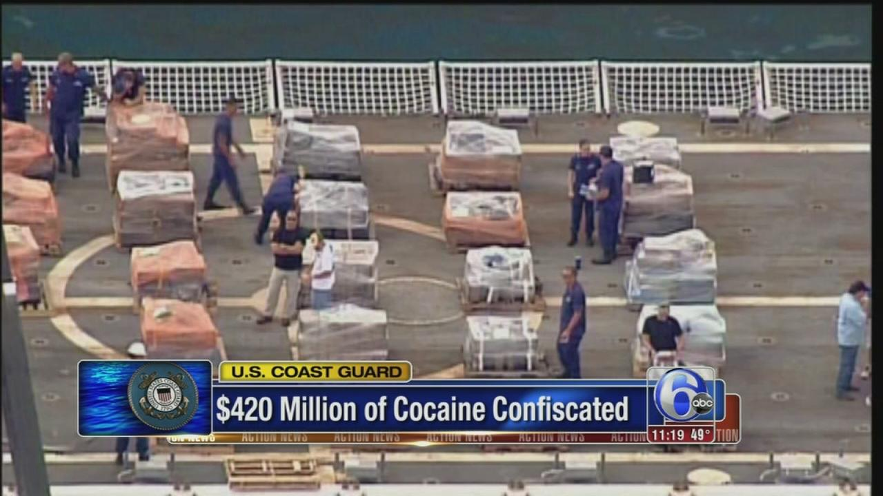 U.S. Coast Guard seizes 16 tons of cocaine