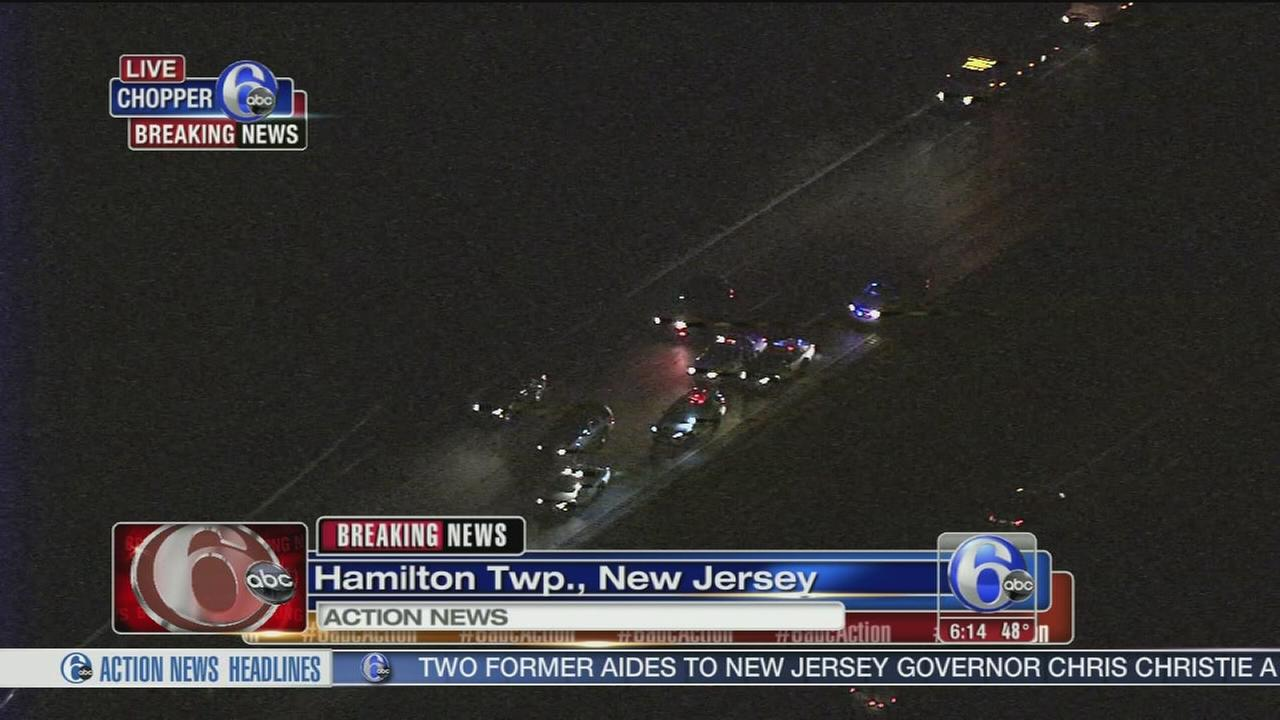 Crash jams traffic on I-195 WB near Rt. 130 in Hamilton Township