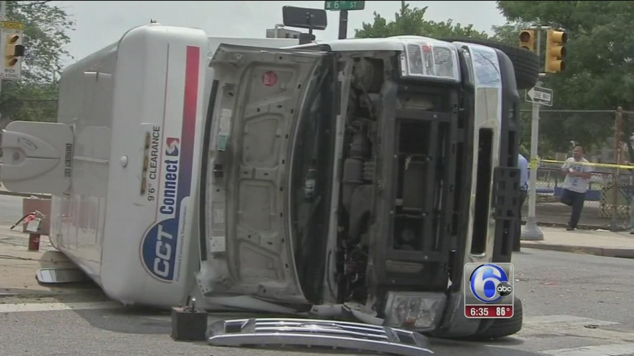 VIDEO: Driver gets DUI after striking SEPTA para-transit bus