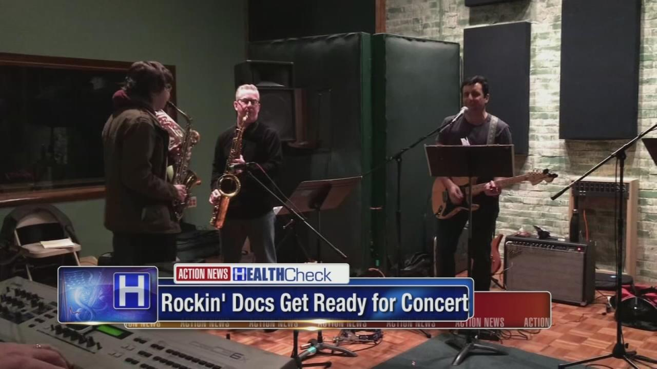 Doctors, nurses, and more tuning up for Rockin Docs concert