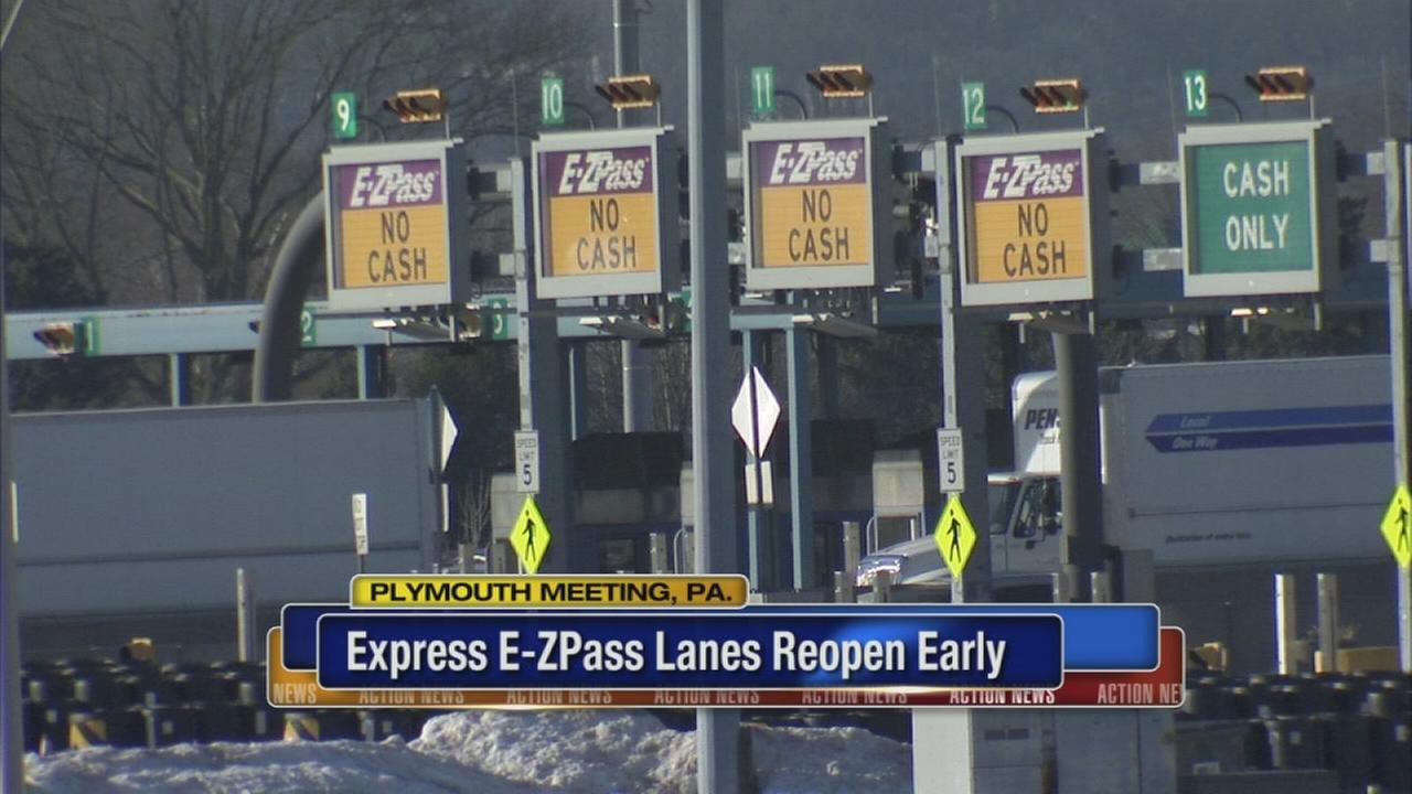 E-ZPass express lanes reopen at Mid-County interchange