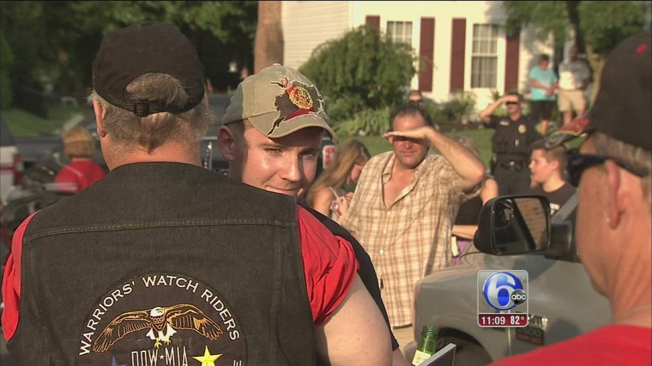 VIDEO: Langhorne Marine gets hero?s welcome home