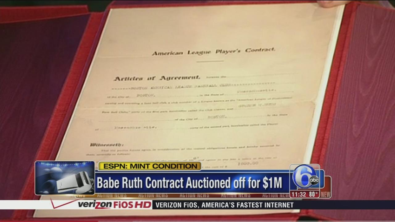 VIDEO: Babe Ruth?s 1918 contract auctioned for $1 million