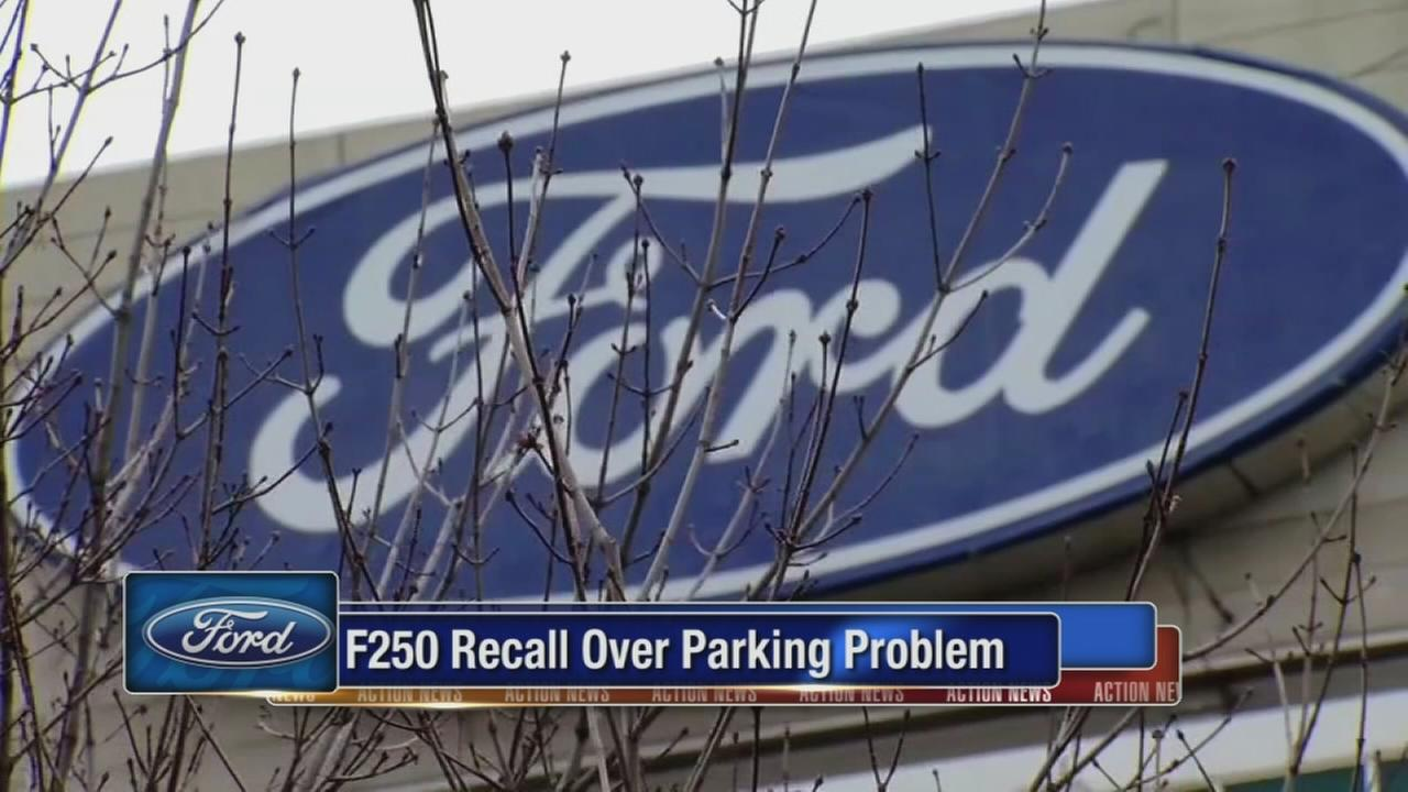 Ford recalling 53,000 trucks that can roll away while parked