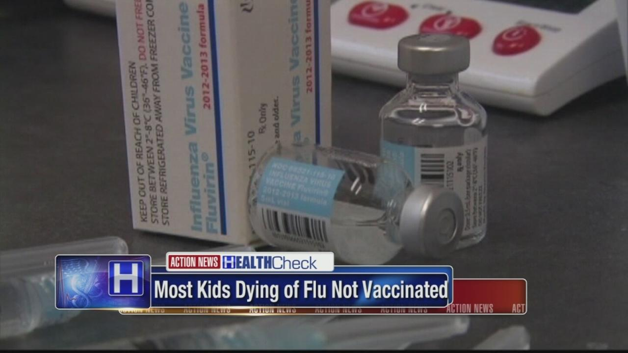 Study: 3 out of 4 kids who died from flu werent vaccinated
