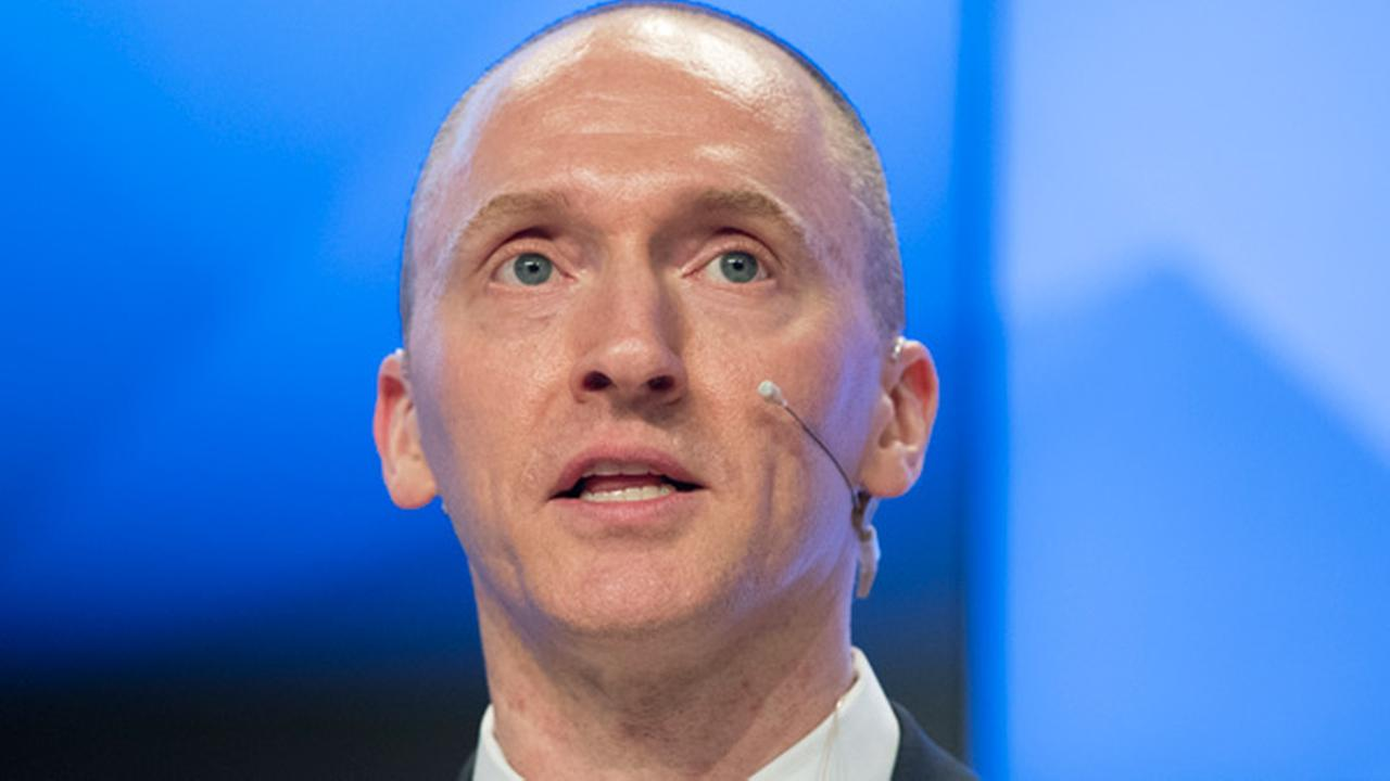Carter Page a former foreign policy adviser of U.S. President-elect Donald Trump speaks at a news conference at RIA Novosti news agency in Moscow Russia Monday Dec. 12 2016