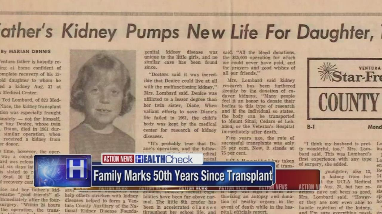 Father, daughter celebrate 50th anniversary of kidney transplant