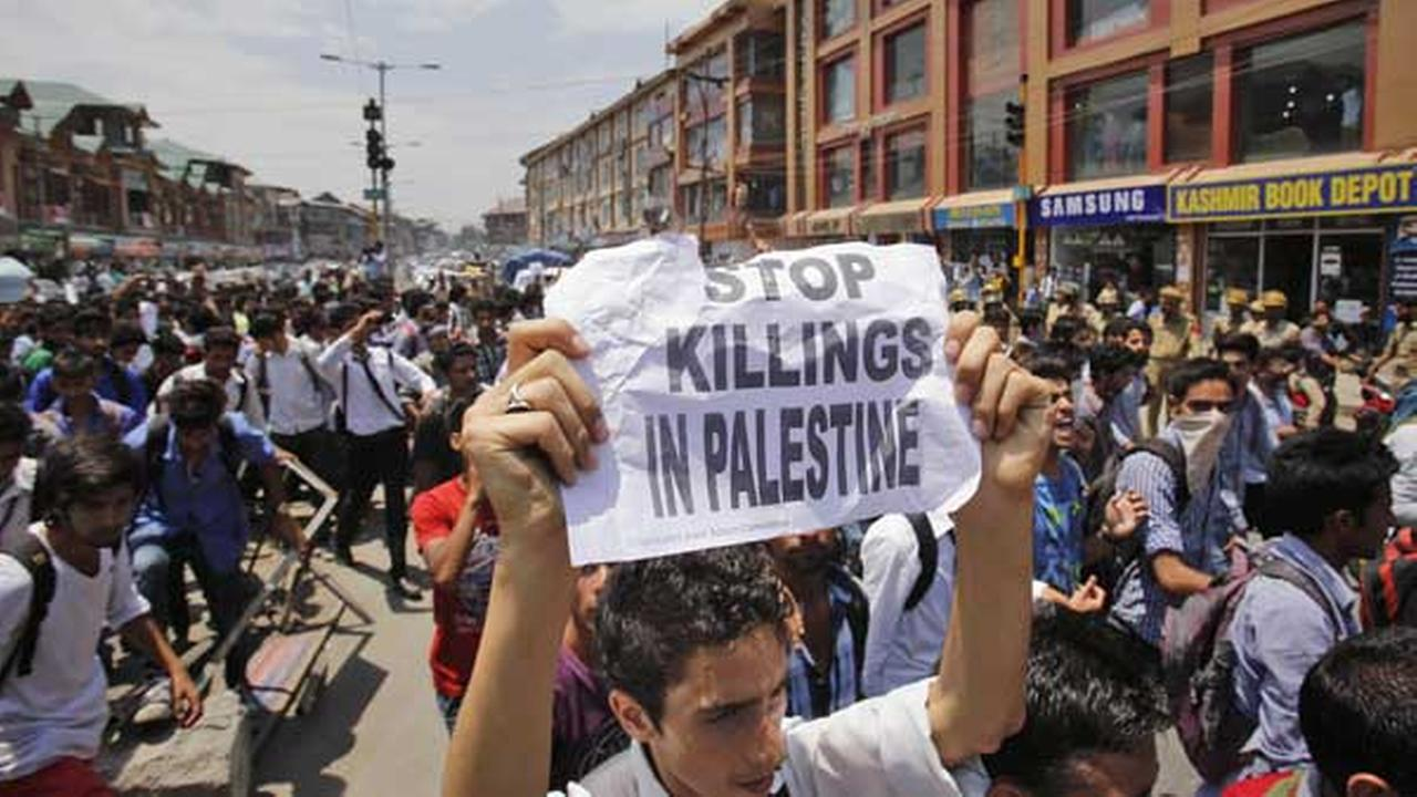 Muslim Kashmir Protes Agresi Israel ke Gaza dg cara unik !