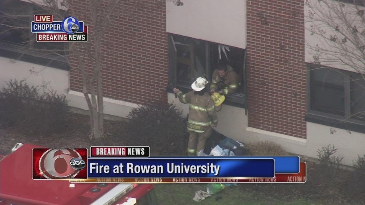 Fire on campus of Rowan University