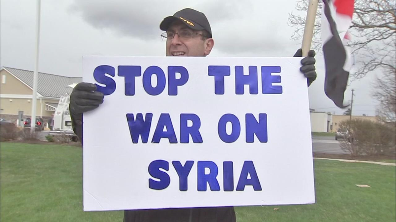 VIDEO: Local Syrians protest U.S. air strikes