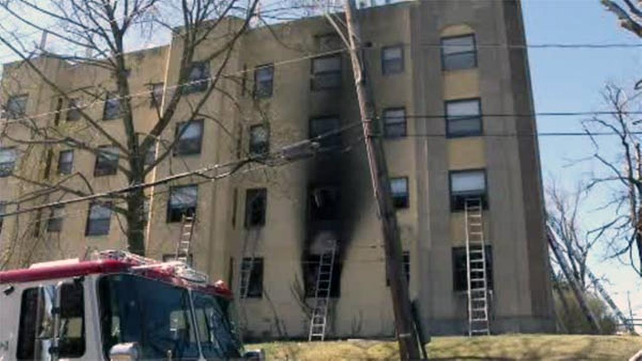 2-alarm fire erupts in Upper Darby apartment building