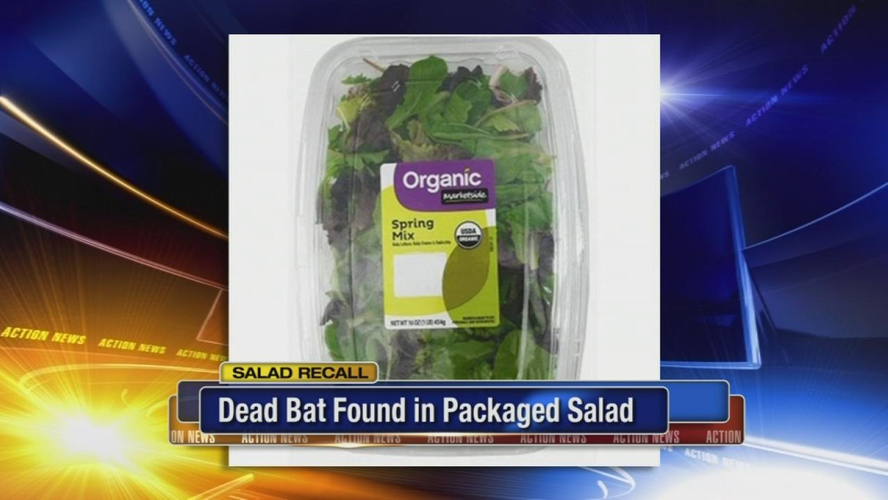 Dead bat found in packaged salad