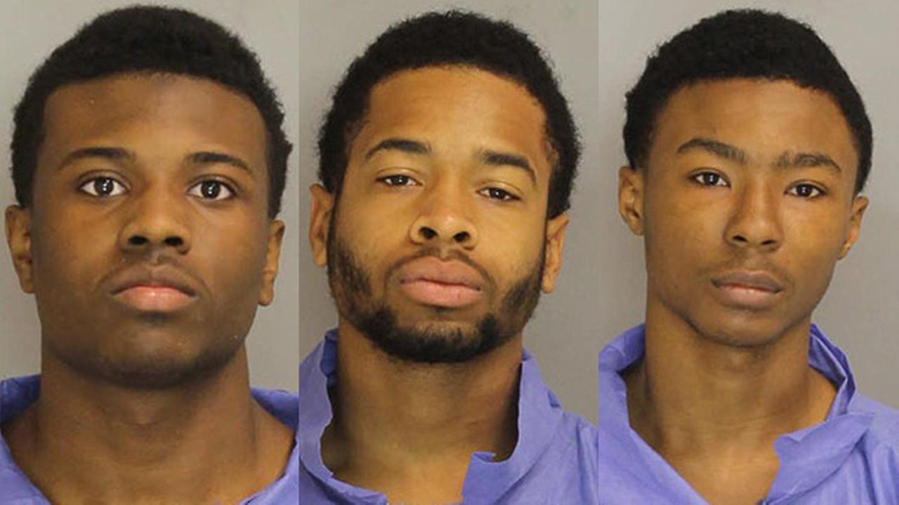 The suspects are identified as 18-year-old Nazear Newton of Huntington Valley, 19-year-old Quentin Archie of Philadelphia, and Phillip Coleman, Jr. of Philadelphia.