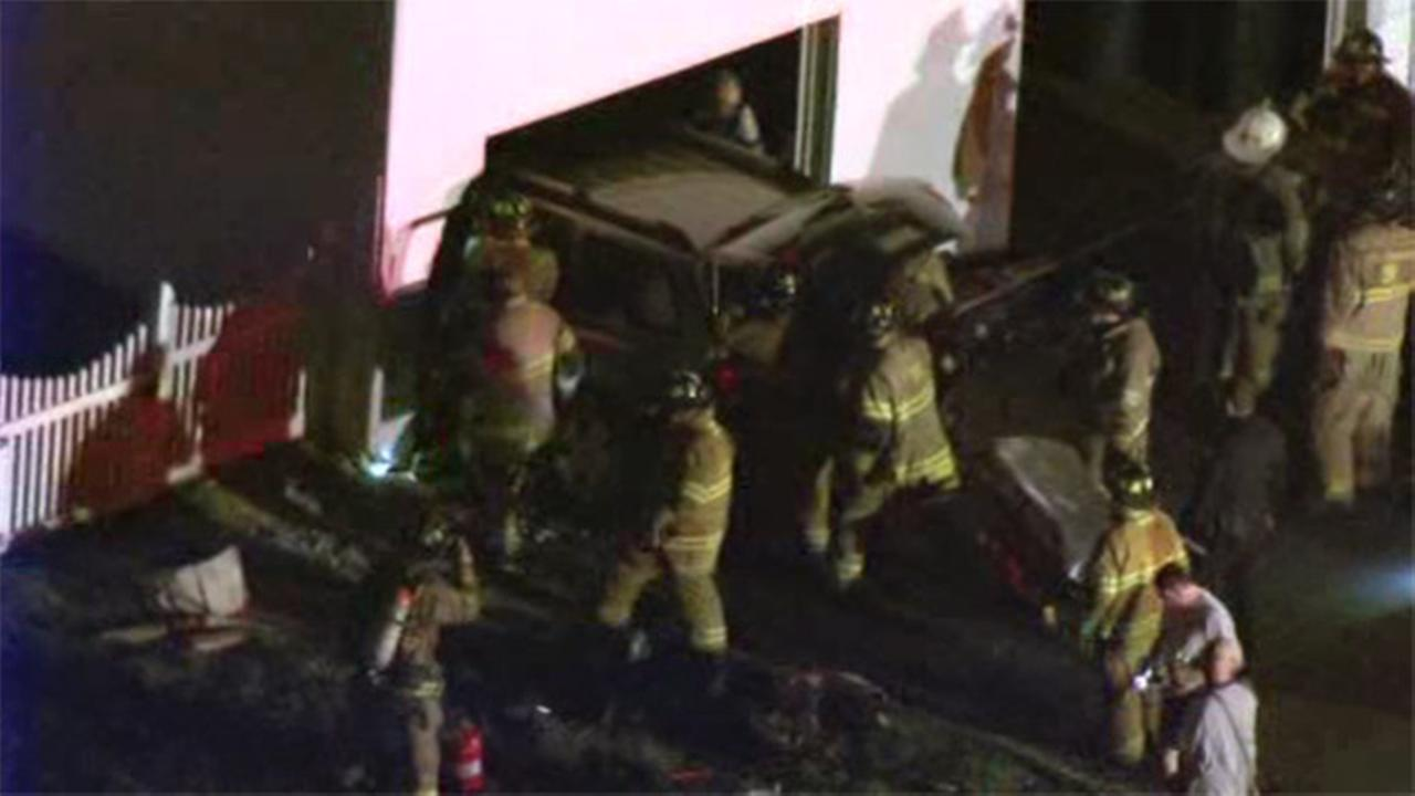 Driver crashes into Warminster house garage