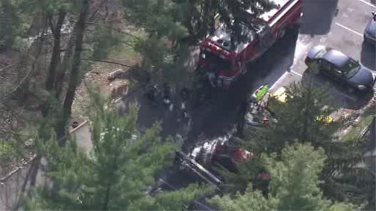 Crews battle apartment fire in Havertown