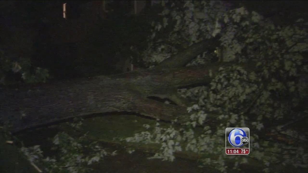 VIDEO: Storm damage in New Jersey
