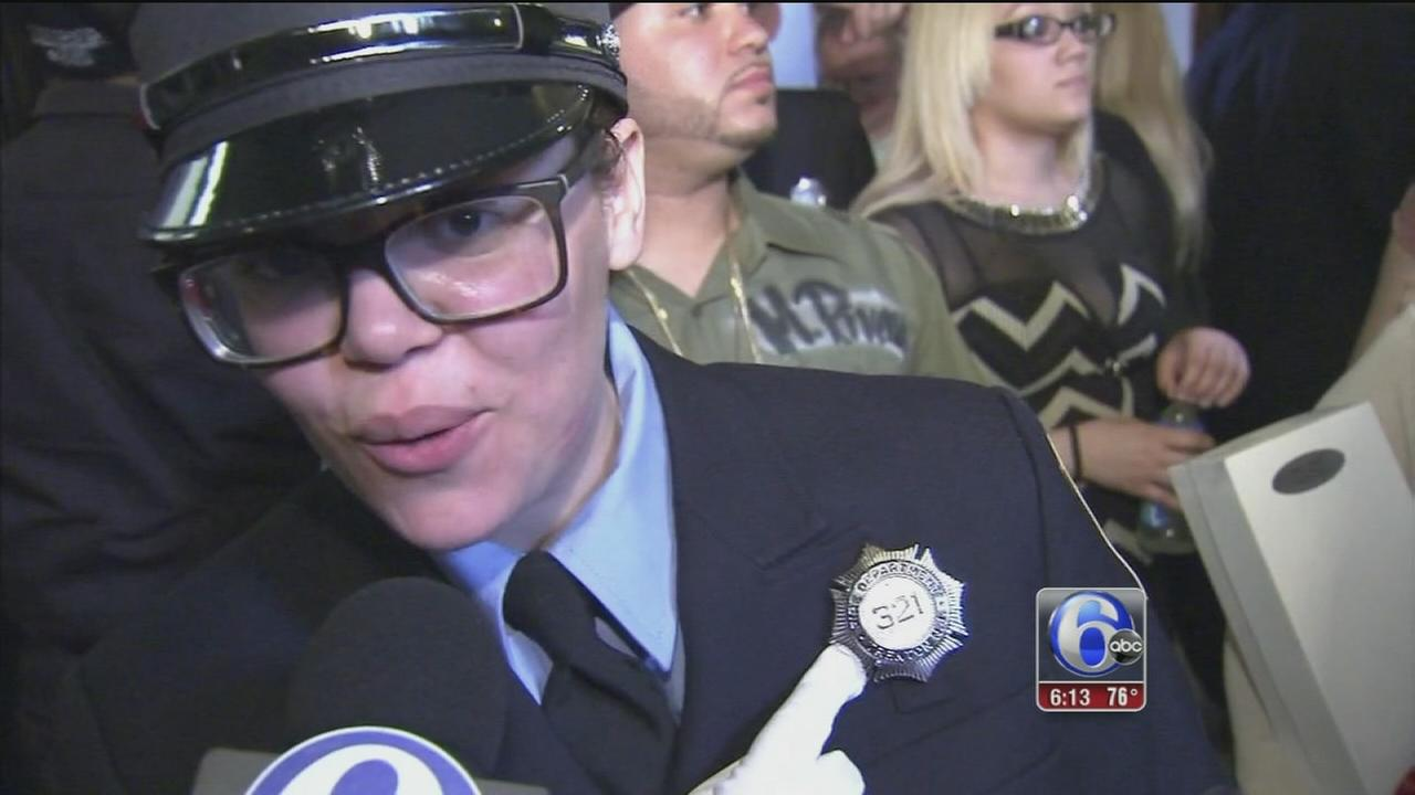 New Trenton firefighter wears her dads badge