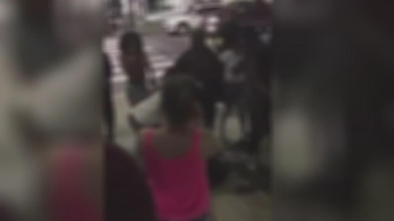Teens attacked by flash mob