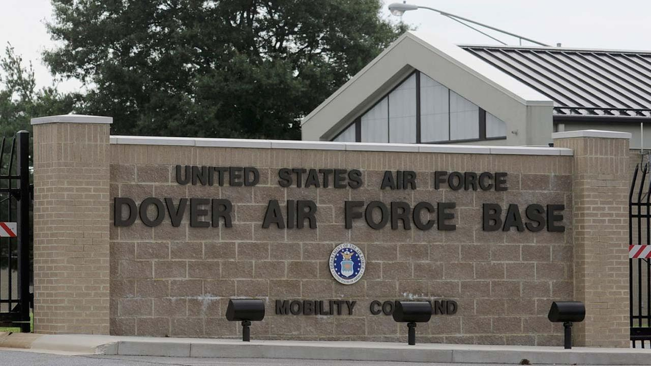 FILE: The closed gates are seen at Dover Air Force Base, Del., Tuesday, Aug. 9, 2011.