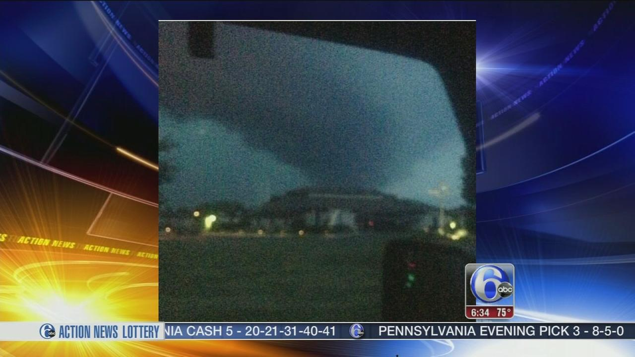 VIDEO: Possible tornado, heavy damage as storms hit NJ <span class=meta>(WPVI)</span>