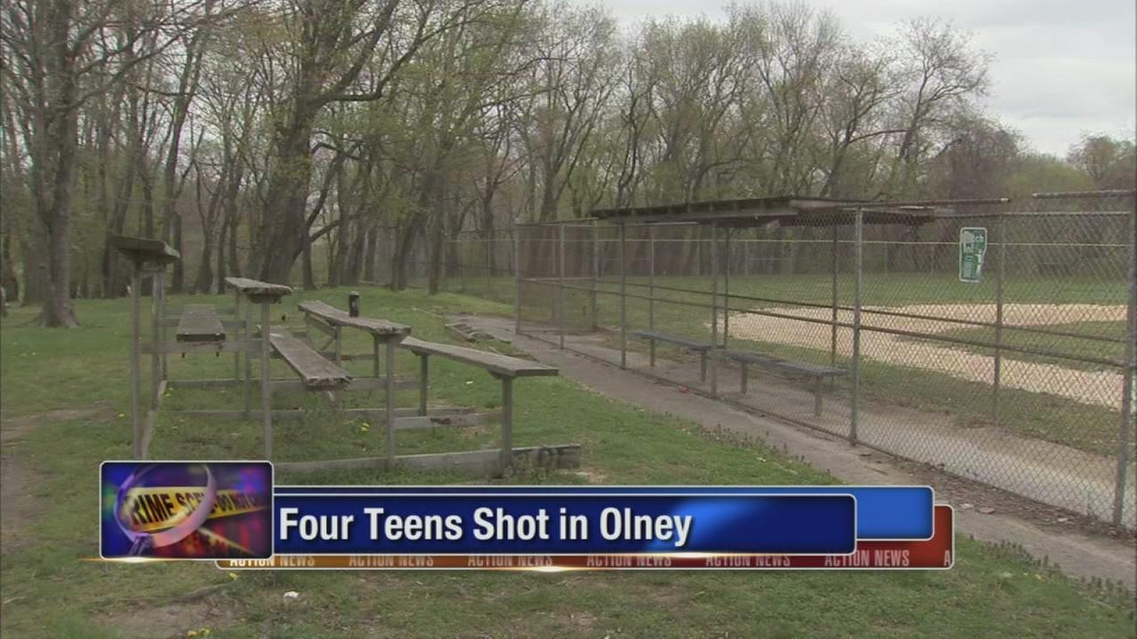 4 teens shot and wounded in Olney