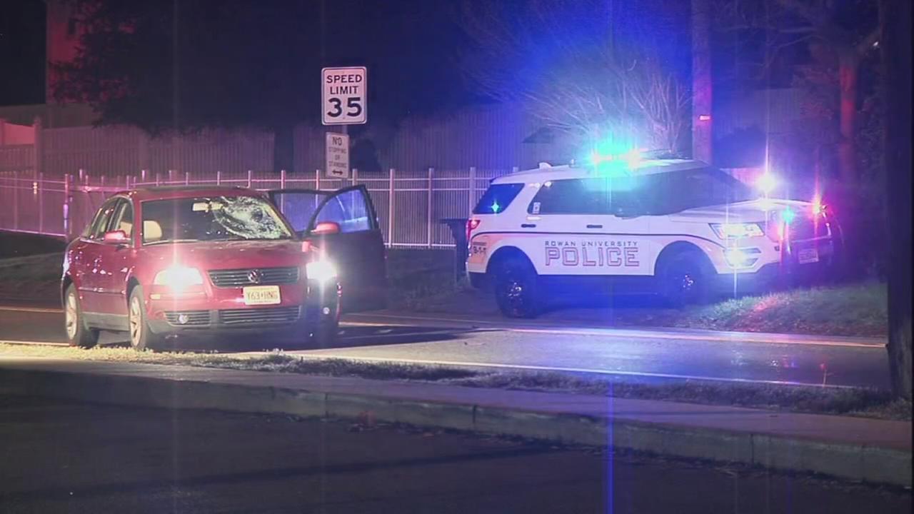 Officer struck in Glassboro identified