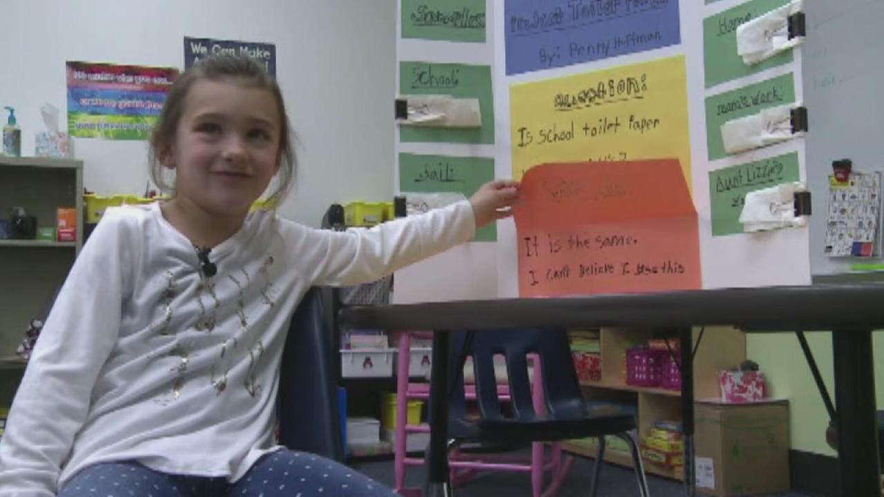 First grader campaigns for softer toilet paper at school