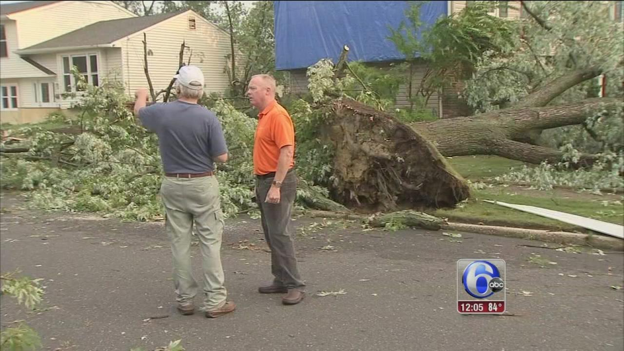 VIDEO: Heavy damage caused by storms in South Jersey