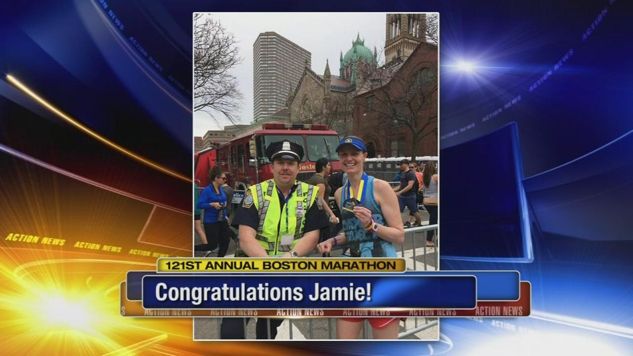 Action News producer completes Boston Marathon