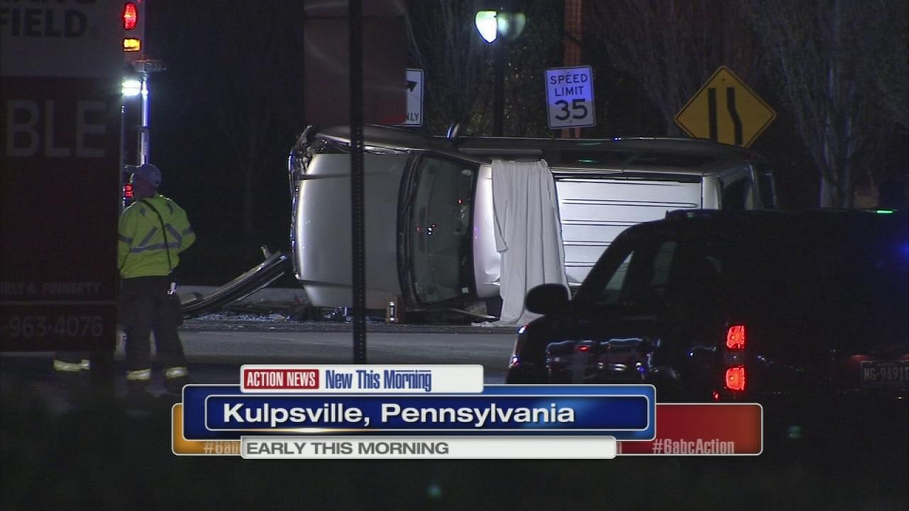 Coroner called to overnight crash in Kulpsville, Pa.