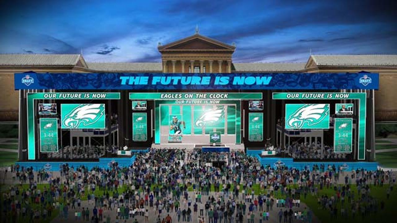 New renderings show NFL Draft setup on Ben Franklin Parkway