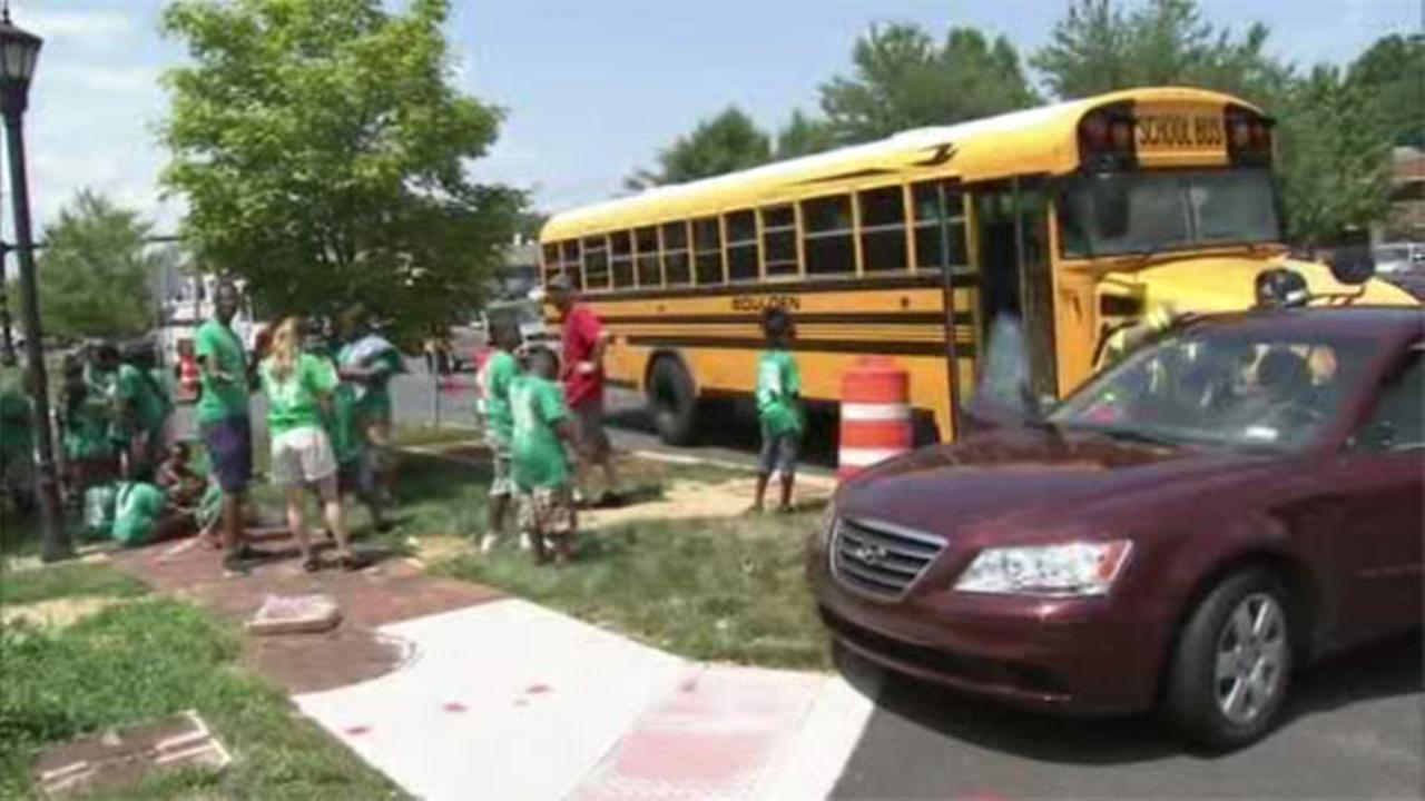 School bus crashes with children on board in Delaware